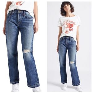 NWT Current/Elliot the crossover distressed jeans